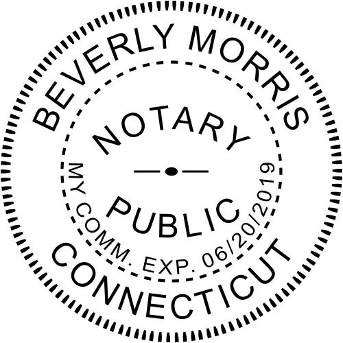 Connecticut Notary Round Design Imprint