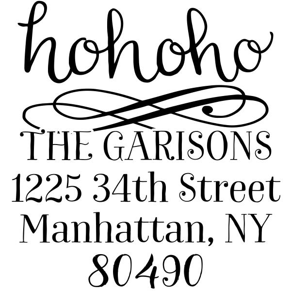 HoHoHo Christmas Address Stamp