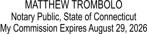 Official Connecticut Rectangular Notary Public Seal