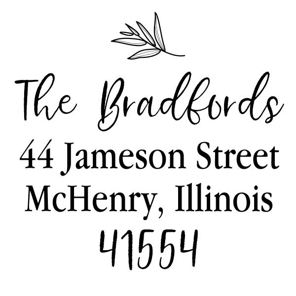 Olive Branch Address Stamp