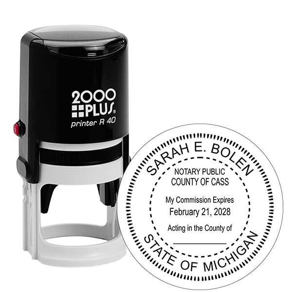 Michigan Notary Round Stamp