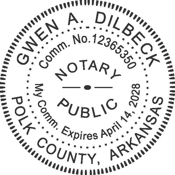 Arkansas Notary Round Seal Embosser