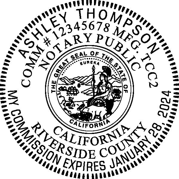 California Notary Round Seal Embosser