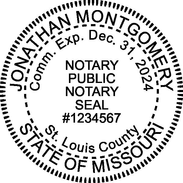 Missouri Notary Round Seal Embosser