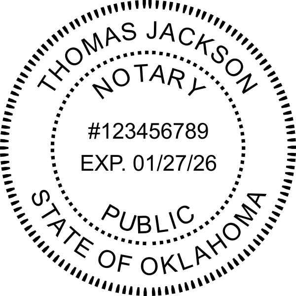 Oklahoma Notary Round Seal Embosser