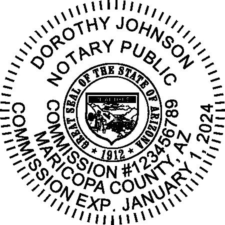 Arizona Notary Pink Seal Embosser - Round