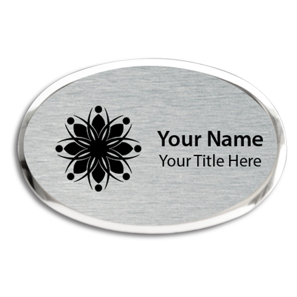 Magnetic Engraved Executive Beveled Oval Badges