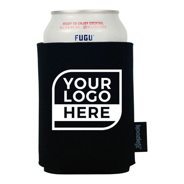 One Color Logo Koozie® Single Sided Foam Can Cooler