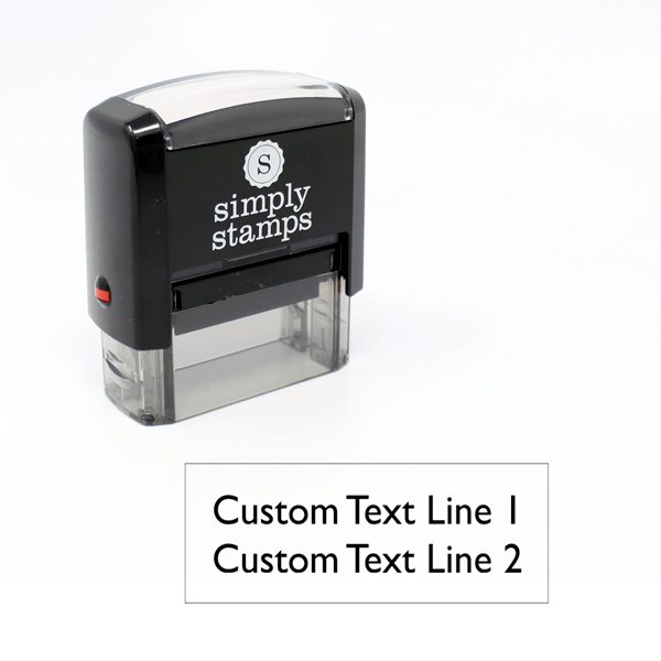 2 Line Custom Self-Inking Stamp