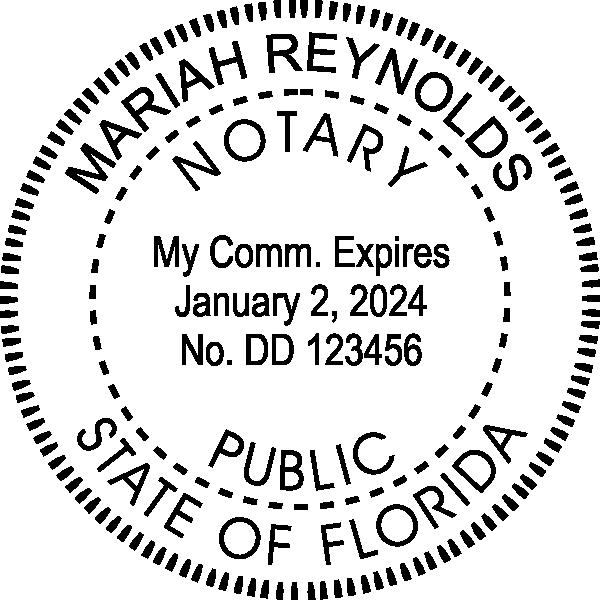 Florida Notary Pink Seal Embosser - Round