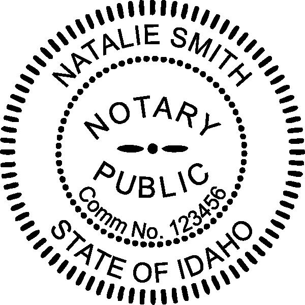 Idaho Notary Pink Seal Embosser - Round