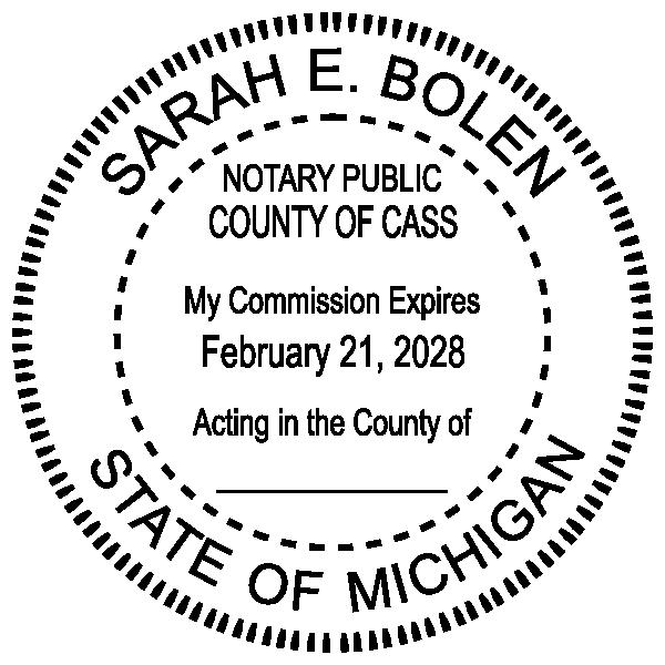 Michigan Notary Pink Seal Embosser - Round