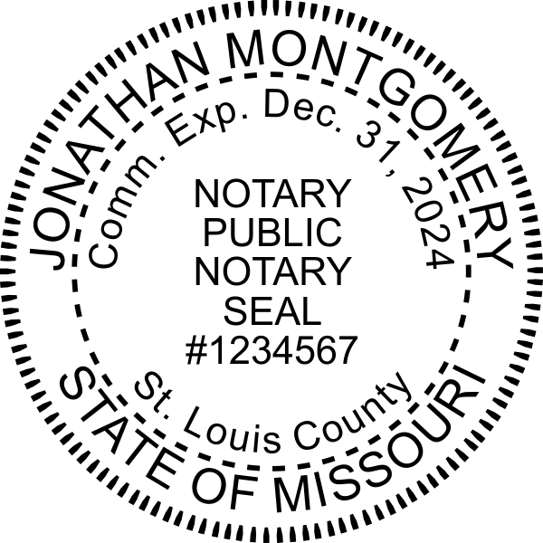 Missouri Notary Pink Seal Embosser - Round