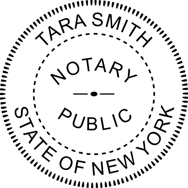 New York Notary Pink Seal Embosser - Round