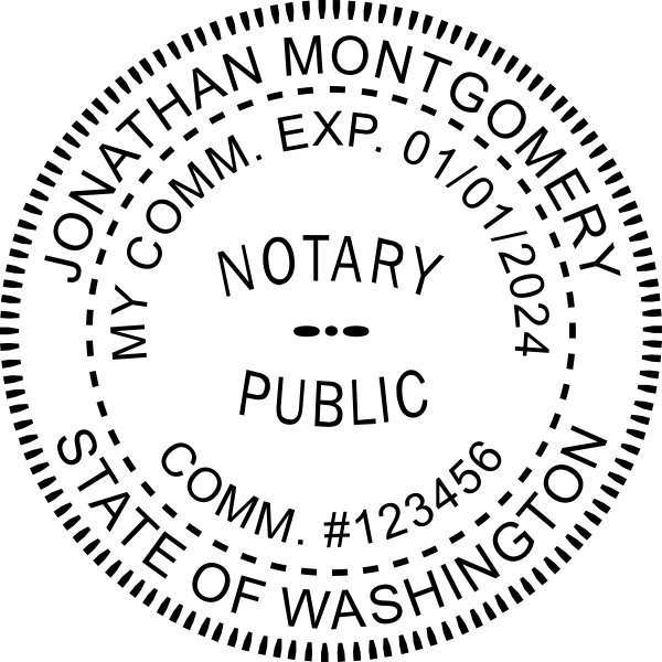 Washington Notary Pink Seal Embosser - Round