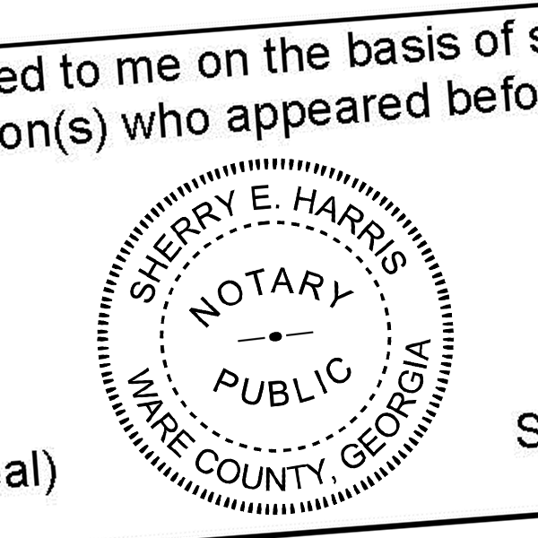 Georgia Round Notary Public Stamp Seal Imprint