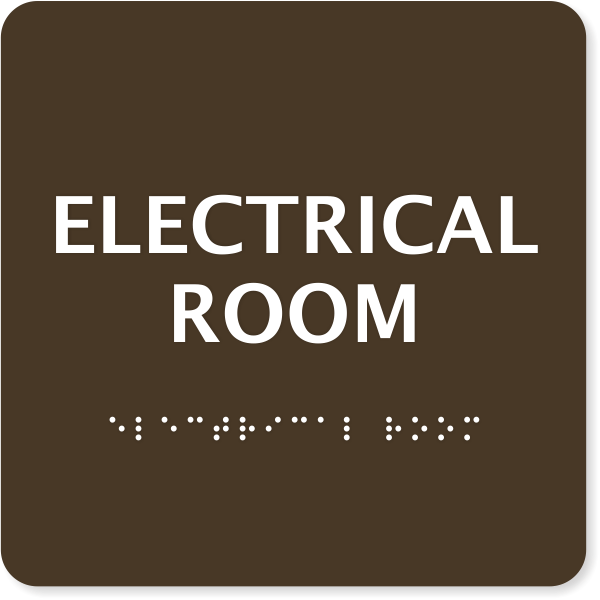 "ADA Braille Electrical Room Sign | 6"" x 6"""