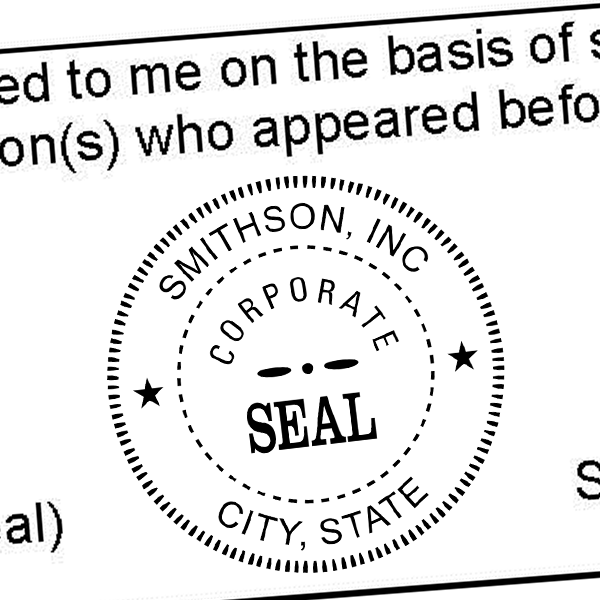 Corporate Seal Stamp Imprint Example