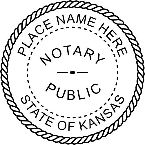 Kansas Notary Public Stamp Seal Imprint