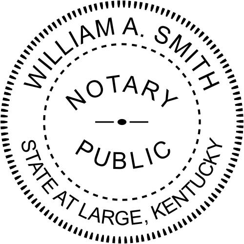 Kentucky Official Notary Seal Embosser