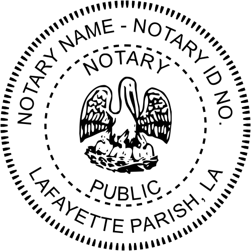 Louisiana Notary Round Imprint