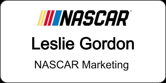 NASCAR Name Badge