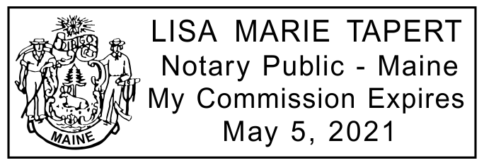 Maine Notary Rectangle Imprint
