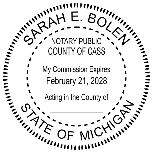 Michigan Notary Round Seal Stamp Imprint
