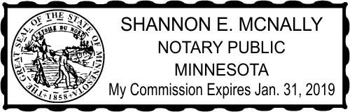 Minnesota Rectangle Embosser Notary Seal