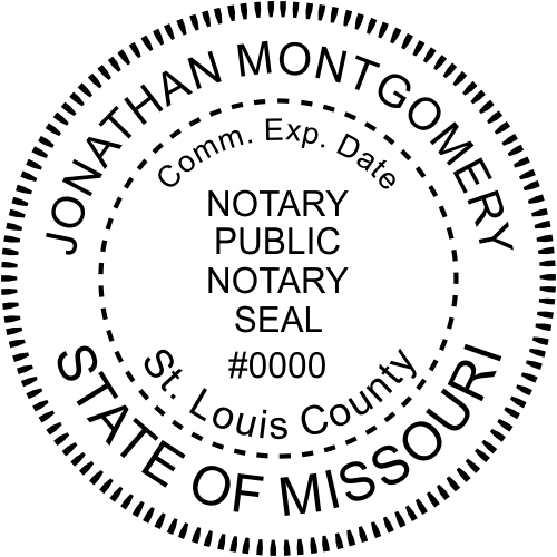 Missouri Notary Round Seal Stamp