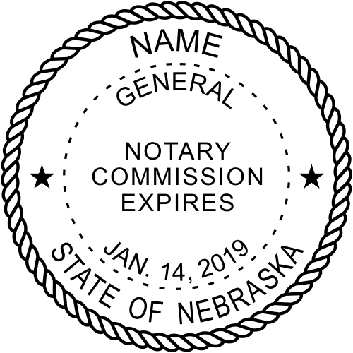 Nebraska Official Notary Seal Embosser