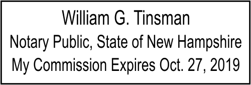 New Hampshire Embosser Notary Seal