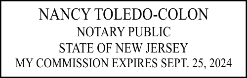 New Jersey Notary Rectangle Imprint