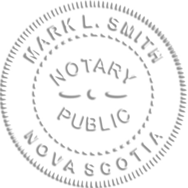 Nova Scotia Canada Notary Seal Stamp