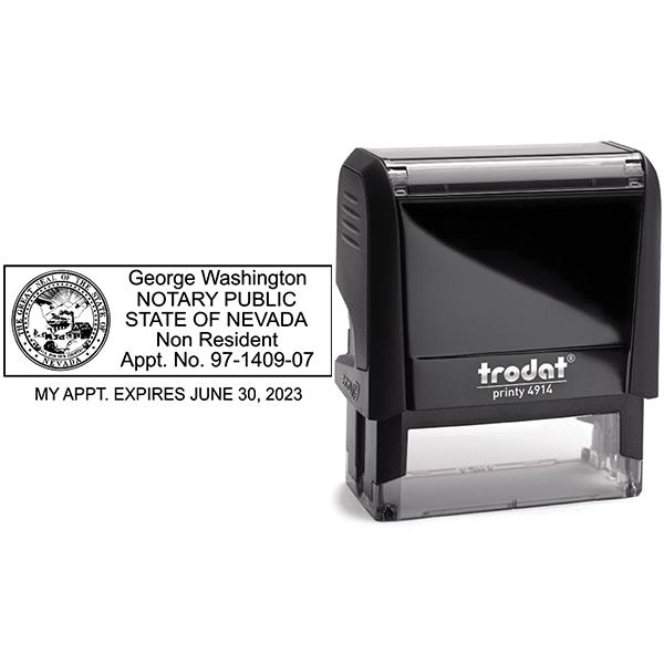 Nevada Notary Rectangular for Non-Resident Body and Design
