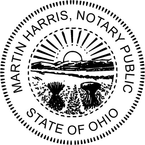 Ohio Notary Round Imprint