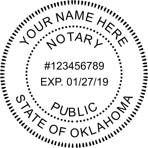 Oklahoma Notary Round Imprint