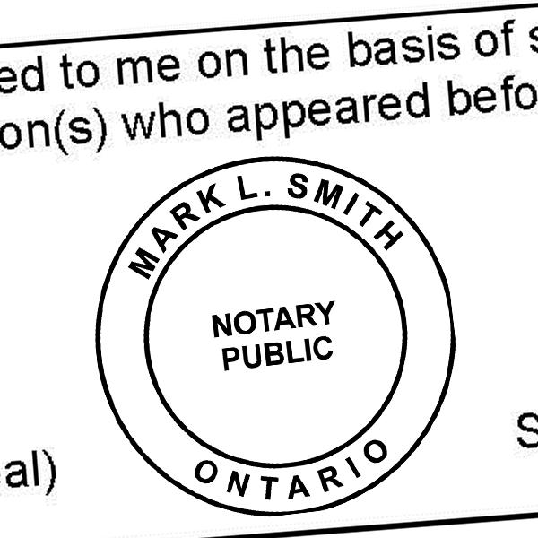Ontario Notary Round Imprint