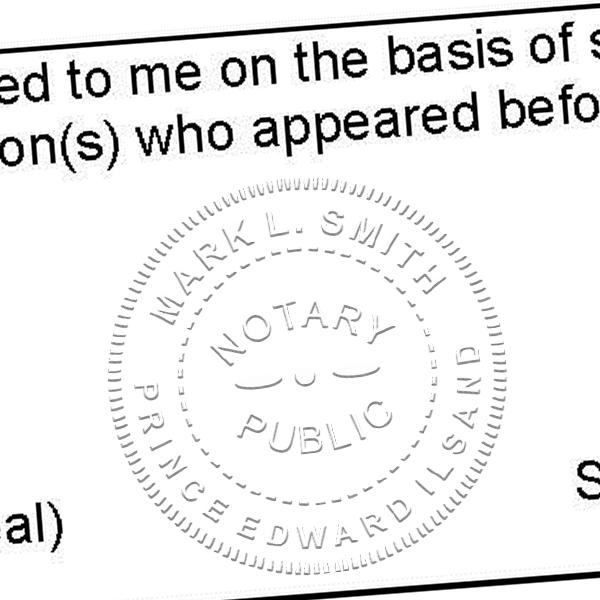 Prince Edward Island Notary Embosser Imprint
