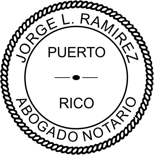 Puerto Rico Notary Imprint