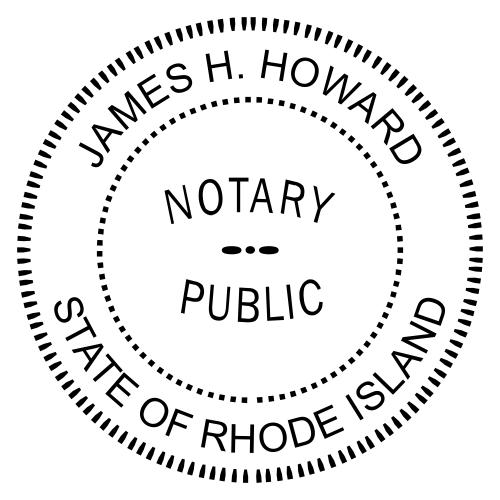 Rhode Island Notary Round Imprint
