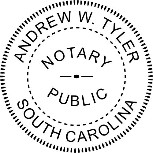 South Carolina Notary Round Imprint