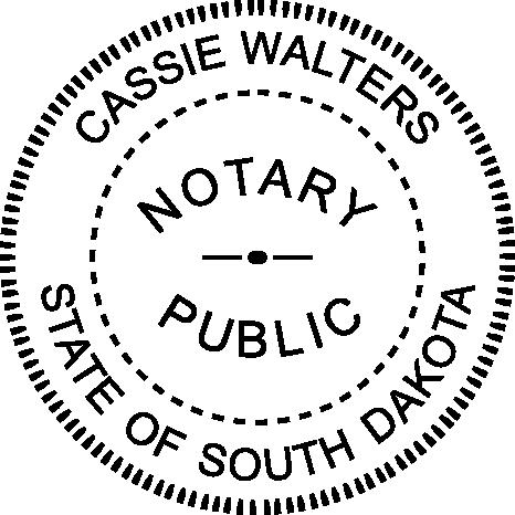 South Dakota Notary Round Imprint
