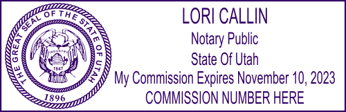 Utah Notary Seal Stamp