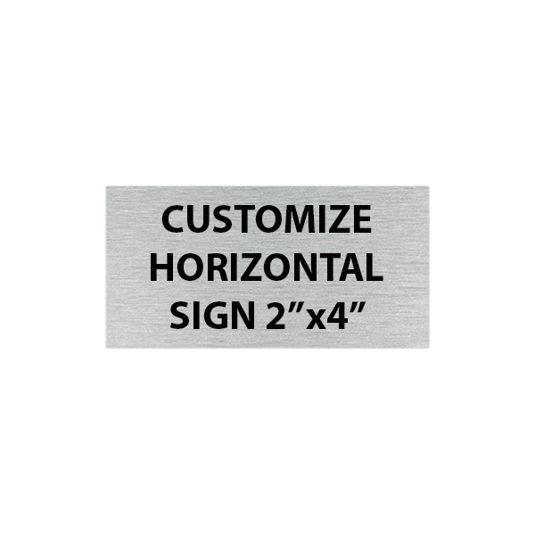 Engraved Sign Horizontal 2