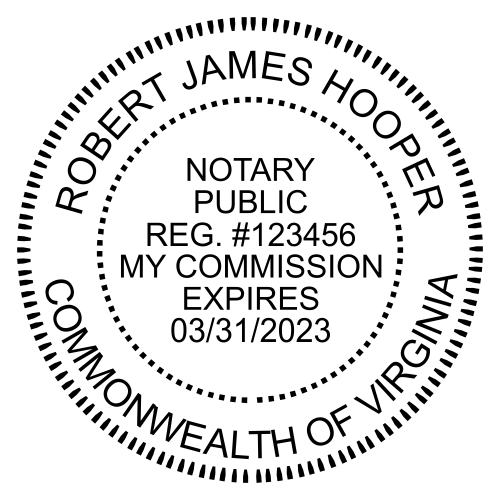 Virginia Notary Round Imprint