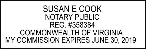Virginia Notary Public Rectangle