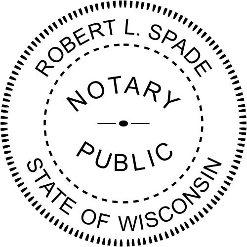 Wisconsin Notary Round  Imprint