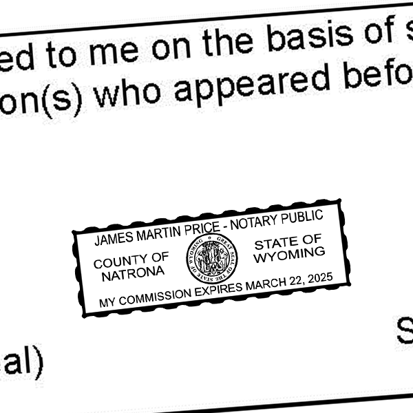 Wyoming Notary Rectangle Imprint