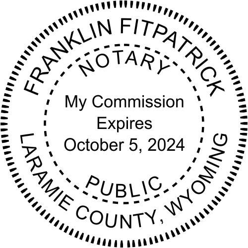 Wyoming Notary Seal Stamp